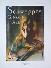 A Pair of Vintage Schweppes Art Deco Style Advertising Posters Circa 1979