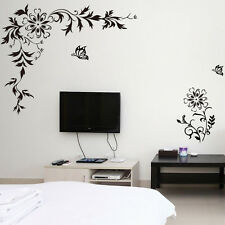 Flower Butterfly DIY Wall Stickers Decals Home Decor Art Removable Vinyl Murals