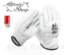 12x Force360 Certified Full Leather Rigger Gloves Cowhide Riggers Work Glove NEW
