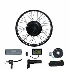 48v 1000w Fat Bike Fat Wheel Electric Bicycle EBike Hub Motor Conversion Kit+LCD