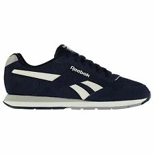 Reebok Glide Suede Trainers Mens Navy/Grey/White Sports Shoes Sneakers Footwear