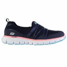 Skechers Synergy Scene Trainers Womens Navy/Pink Sneakers Sports Shoes Footwear