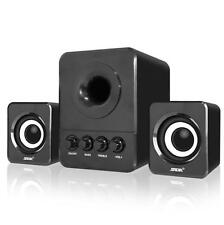 Multimedia Computer PC Desktop Laptop Speakers 2.1 Bass with Subwoofer