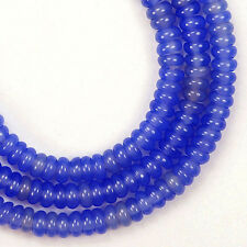 30 Beads Purple Blue Agate 2x4mm Rondell Beads CB435
