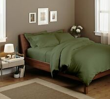 THREAD TREASURE's MOSS SOLID COMPLETE BEDDING COLLECTION 1000TC 100% COTTON - A