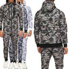 Men's Camouflage Tracksuit Suit Army Set Sweat Suit Trackies Camouflage Pattern
