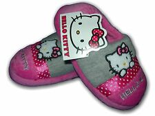 Girls Slippers Shoes HELLO KITTY Slip On Pink PERSIAN Sizes 6-12 (24-30)