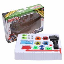 Metal Master Fusion Top Rapidity Fight Rare Beyblade 4D Launcher Grip Set New V6