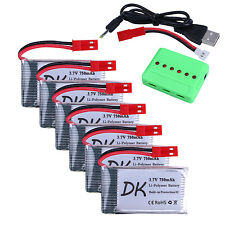 6 pcs 3.7v 750mAh 25c Upgrade Lipo Battery JST Plug with X6 Charger for MJX X400