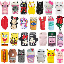 Cute 3D Animals Flower Soft Silicone Phone Case Cover Back Skin For iPhone Hot