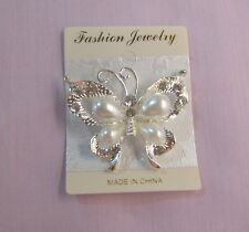 Free Gift with Lovely Sparkling Butterfly Brooch -  other brooches available