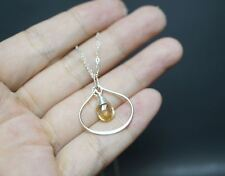 Tiny Citrine Necklace - Infinity Sterling Silver Citrine Necklace - Citrine Jewe