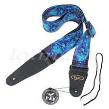 Guitar Strap For Electric Acoustic Bass Parts Adjustable Soft Leather Thick