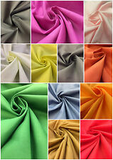 "Plain Polycotton Fabric - Dress Making Crafts Lining Material - 45"" 115cm Wide"
