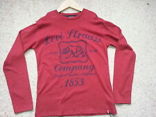 Levis Boys Long Sleeve T- Shirt with Printed Logo Size 12 Yrs BNWT