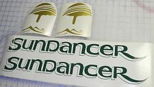 Sea Ray Sundancer Decals 2  sets - free shipping green gold Drop shadow
