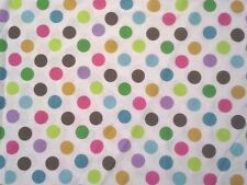 "Cotton Knit Jersey Fabric Tshirt Sewing Material 3/4"" Multi-Colored Dots Per Yd"