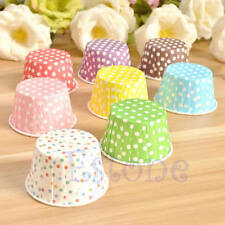 50 pcs Paper Cake Cup Cupcake Wrapper Cases Muffin Baking Wedding XMAS Party
