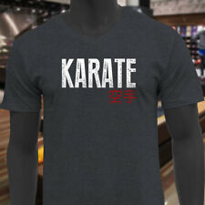 KARATE KANJI FIGHTING TRAINING MMA KUNG FU JAPAN Mens Charcoal V-Neck T-Shirt