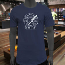 HUNTER KNIFE CLUB HUNT OUTDOORS HUNTING SEASON Mens Navy Extended Long T-Shirt