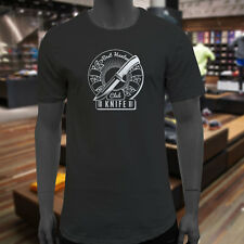 HUNTER KNIFE CLUB HUNT OUTDOORS HUNTING SEASON Mens Black Extended Long T-Shirt