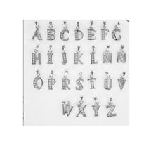 925 Sterling Silver CZ Alphabet Initial All Letter A to Z Charm Pendant Gift NEW