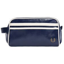 New Mens Fred Perry Blue Classic Pvc Wash Bag