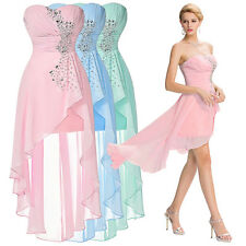 Summer High-Low Homecoming Bridesmaid Formal Evening Cocktail Prom Party Dress'