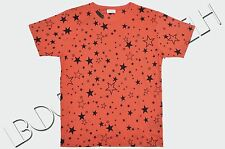 SAINT LAURENT PARIS 425$ Authentic Orange Cotton Star Print Tshirt sz L