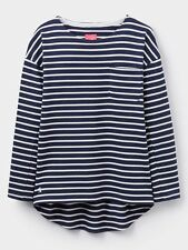 Joules Ladies Bay Drop Shoulder Navy Striped Jersey Top -  Sizes UK 14 - 20