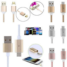 Magnetic Charging Metal PC Cable Charger for Android Smart Phone 2.4 A Micro USB