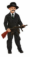 Boys Kids Gangster Costume 1920's Fancy Dress Mafia Bugsy Malone Mobster Outfit