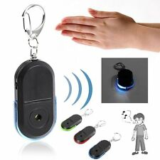 Wireless Anti-Lost Alarm Key Finder Locator Keychain Whistle Sound LED Light OP