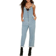 Women Fashion Denim Overalls Zip Strap Jumpsuits Jeans Trousers Casual Playsuits