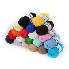 1/2/5/10pcs Knitting Yarn Soft Bamboo Cotton Skein Ball Fingering Baby Yarn 50g