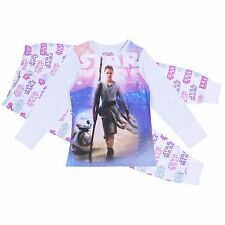 Grey/Pink Long Sleeved Top & Bottoms Pyjama Set For Girls STAR WARS