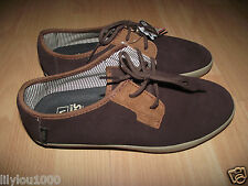 VANS BROWN ESPRESSO DACHSHUND SURF SIDERS SUEDE SHOES SIZE 6.5  NWT