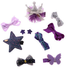 Farbic Cute Hair Bow Mixed Design Toddler Hair Clips Set Baby Girl Accessory