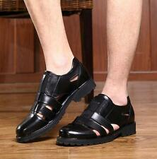 New Mens hollow out sandals dress formal leather shoes slip on US11.5 size