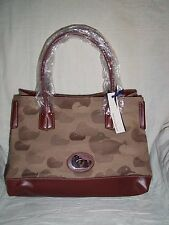 Dooney & Bourke Signature Brown Duck Print Fabric Shopper Tote Bag - NWT