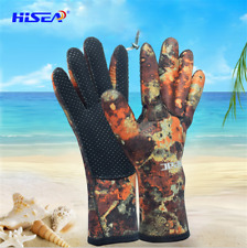 Adults 2.5mm Diving Spearfishing Wetsuit Gloves Neoprene Full Finger Scuba