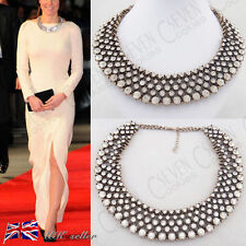 Fashion Diamante Crystal Rhinestone Cluster Choker Bib Statement Collar Necklace