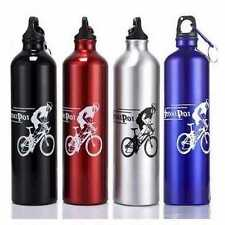Portable Cycling Camping Bicycle Sports Aluminum Alloy Water Bottle 750ml