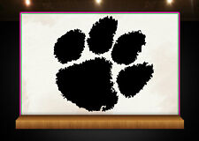 Clemson Tigers Paw Print - Mounted Wood Handle Rubber Stamp