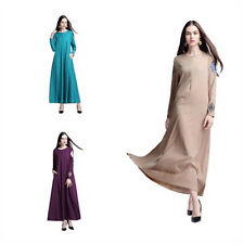 Women New Long dress Party Cocktail dress Muslim Abaya Kaftan Islamic Maxi dress