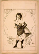Photo Print Vintage Poster: Theatre Flyer 1800s Blank Unknown 15
