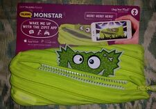 ZIPIT TALKING MONSTAR PENCIL POUCH, COSMETIC CASE, CELL PHONE BAG GREEN