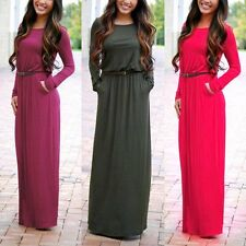 Womens Long Maxi Dress Ladies Summer Beach Casual Party Cocktail Evening Dresses