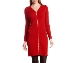 Calvin Klein NEW Red Womens Size Medium  Ribbed Sweater Dress $134
