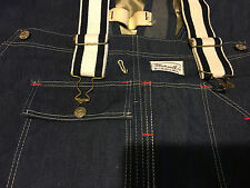 Madewell Sanforized Indigo Denim Overalls 1960's NOS Made in USA 46 X 32